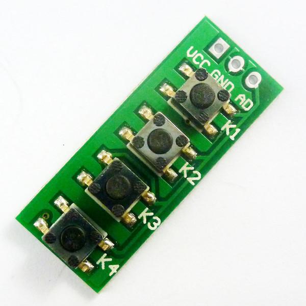 AD Keyboard Simulieren Vier-Tasten-Modul Analog-Taste für Arduino UNO MEGA2560 Sensor-Erweiterungskarte
