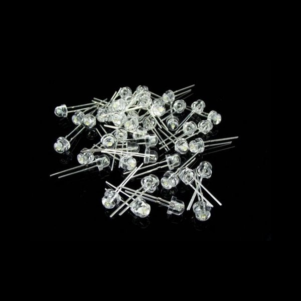 top popular 1000pcs 5mm White Red Blue Green Yellow Straw Hat Ultra Bright LEDS Diode Kit led 5mm Straw Hat LED Light Diodes Free Shipping 2020