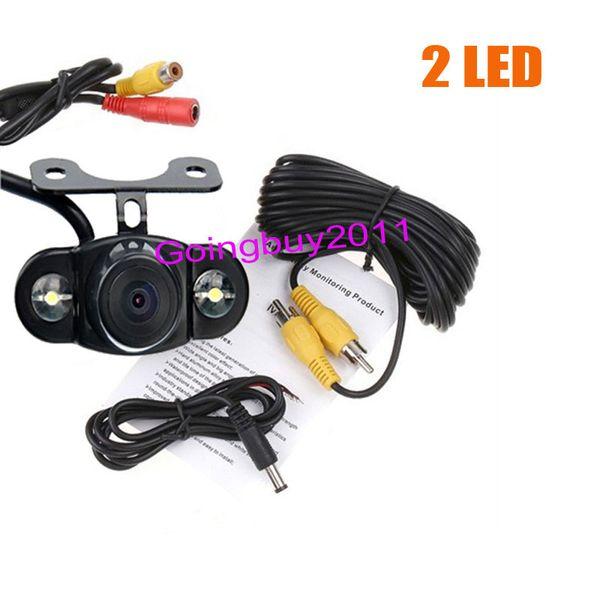 2 LED Wide Angel Car Rear View Reversing Backup Camera Waterproof 170° Free Shipping