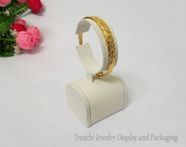 Fashion Jewellery Display Set 11cm&15cm Heigh Bracelet Display Beige Suede Callar Chain C Holder Watch Stand Bangle Ankle Organizer