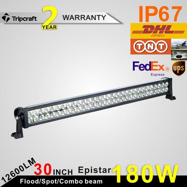 30Inch 180W LED Light Bar for Work Driving Boat Car Truck 4x4 SUV ATV Off Road Fog Lamp Spot Wide Flood Beam 12V