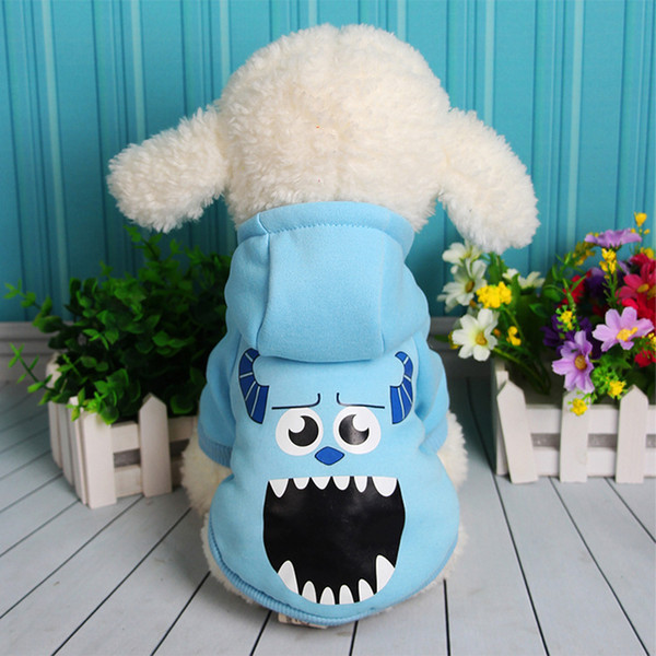 Autumn Winter Cartoon Sullivan Botton Up Clothes Product Supply Two Legs Dog Coat for Small Dogs Chihuahua Costume Puppy Suit Pet Supplies