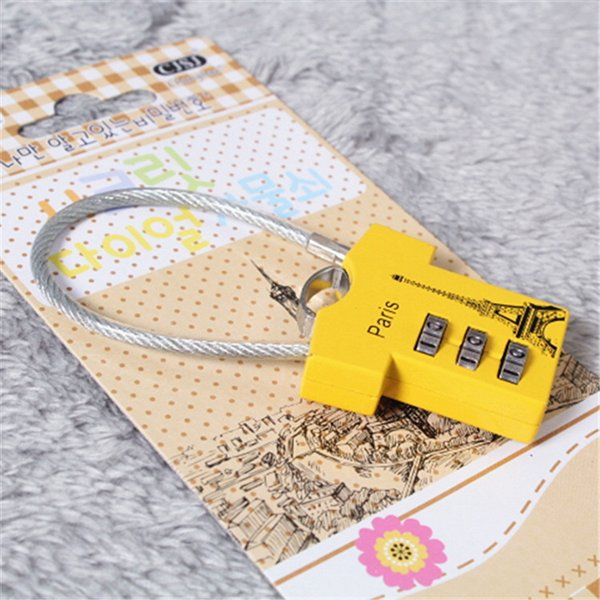 Wholesale high quality new stranded wire, creative password lock wholesale, all kinds of fashion password lock