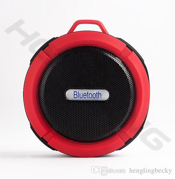 Portátil ao ar livre versão esporte 3.0 C6 alto-falantes Bluetooth Speaker Ventosa à prova d 'água Sem Fio Handsfree MIC Caixa de Voz para iphone samsun