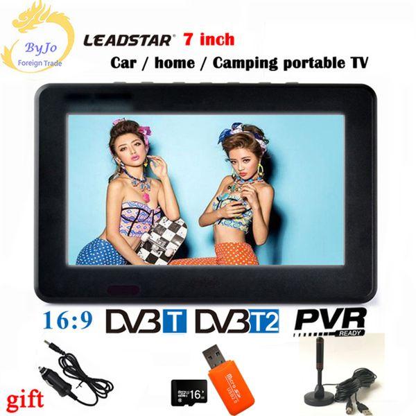 LEADSTAR D7 Portable digital TV player 7 Inch DVBT2 DVBT Analog all In one Mini tv led display Support record hd led TV program LCD car