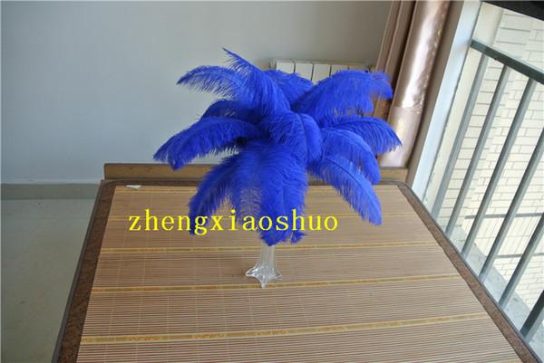 wholesale 100 pcs 14-16inch royal blue Ostrich Feather Plume for Table Decoration wedding centerpieces decor party table event centerpiece