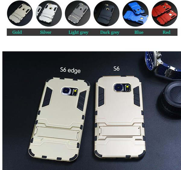 New Arrival Kickstand Cell Phone Armor Case for Samsung Galaxy S6 Protective Mobile Cover Case With Stand