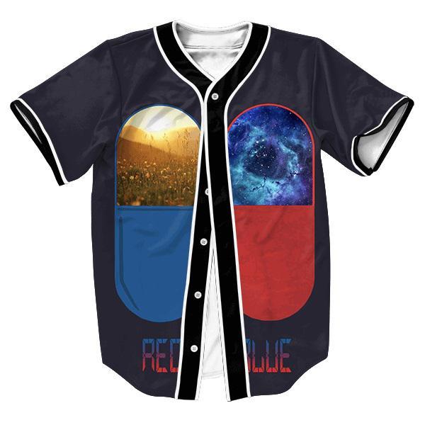 Atacado-Jersey tess camisas dos homens 3d GALAXY SPACE UNISEX PRINT Streetwear camisa de beisebol com botões estilo verão Hip Hop