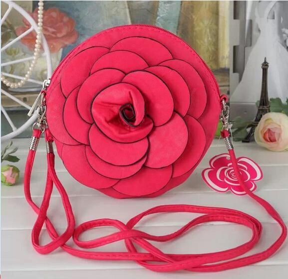 Heißer Verkauf Neue Mode Frauen Kamelie tasche handtasche umhängetasche handtaschen handy paket handtasche rosen taschen