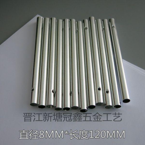 Simli Hollow Rüzgar Ahenge Tüp Çapı 8 MM Uzunluğu 12 MM Moda Gümüş Renkler Için Parti Dekor El Yapımı Hediyeler El Sanatları 0 32gx A R