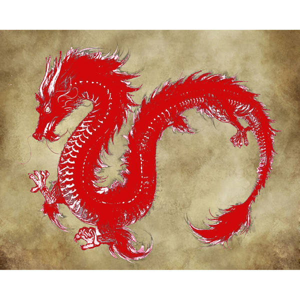 mighty dragon diamond embroidery painting 3d kit mosaic picture full rhinestones cross stitch Needlework 40x50cm HWB-633