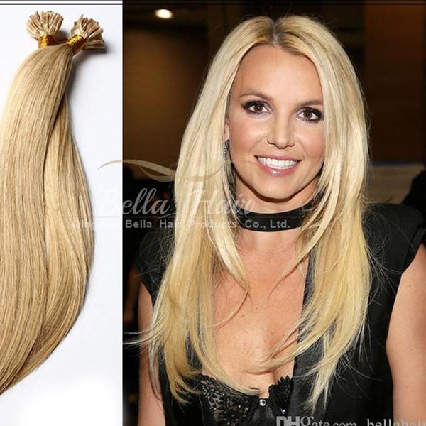 Brezilyalı Saç İnsan İşlenmemiş Önceden Bağlanmış Saç Uzantıları U-TIP Sarışın Saç Uzantıları, 1 g / strand, 100 g / paket DHL ücretsiz kargo
