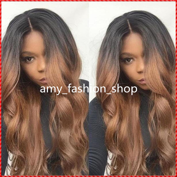 best selling products two toned curly full WHOLE lace human hair wigs