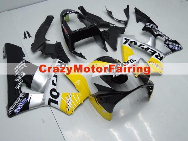 3Gifts Nuevos carenados de inyección ABS establecidos para HONDA 00 01 CBR929RR CBR 929 929RR 900RR CBR900RR 2000 2001 Cool yellow silver black