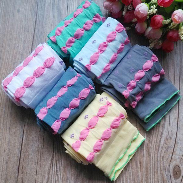 Wholesale High Quality Cute Sweet Candy Solid Velvet Children Kids Jacquard Girl Leggings Spring Autumn 20pcs/lot