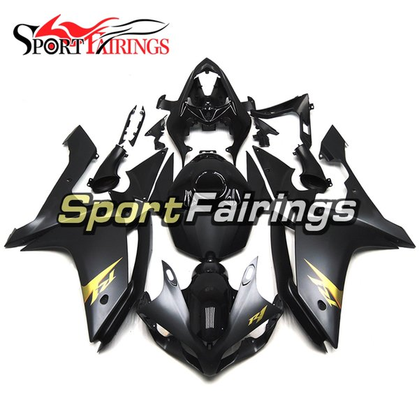 Full Injection Matte Black Gold Decal Fairings For Yamaha YZF1000 YZF R1 2007 2008 Plastics ABS Fairings Motorcycle Full Fairing Kit Cowling
