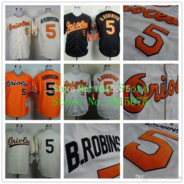 60cef7627 ... wholesale brooks robinson jersey 19701975 throwback 1954 turn back  cream orange baltimore orioles 49e5f 4a573