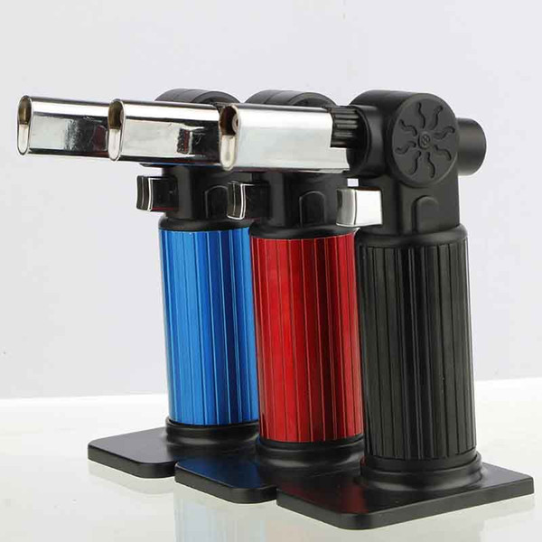 Refillable Butane Torch Lighter Windproof Jet Flames Kitchen Brulee Culinary Micro Torch Lighters Tools Accessories No Gas 3 colors