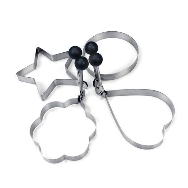 Spiegelei-Former-Ring-Pfannkuchen-Form-Edelstahl-Form, die Küche-Werkzeuge 4PCS / Set freies Verschiffen kocht