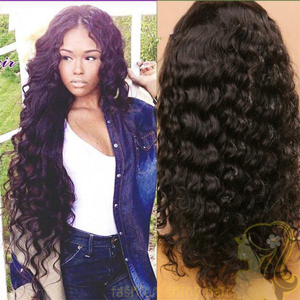 Parrucche anteriori brasiliane del merletto dei capelli per le parrucche lunghe lunghe del pizzo di Glueless dell'onda di acqua delle donne nere 130% nodi candeggiati di densità