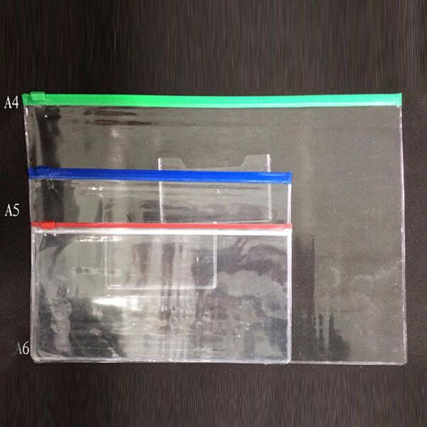 파일 가방 편지지 투명 플라스틱 가방 반투명 폴더 A4 / A5 / A6 크기 문서 가방 파일 폴더 학교 사무실 공급