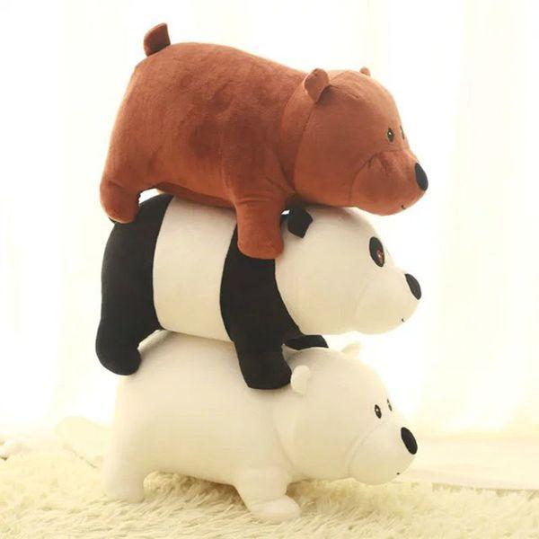 25/40CM kawaii Brown Bear Plush Toys Panda Cloth doll White Bear doll Wedding Gift Kids Toys 7530T119677