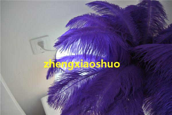 wholesale 100 pcs 12-14inch purple Ostrich Feather Plume for Table Decoration wedding centerpiece party event centerpiece supply decor