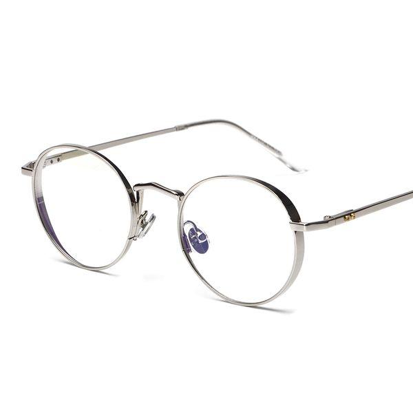 Wholesale- Metal Oval Optical Eyewear Vintage Retro Plain Women Men Computer Reading Glasses Myopia Eyeglasses Frame Brand Design oculos