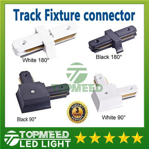 Epacket LED Track Light Rail Connector For Wires Right Angle Horizontal Commercial track lighting fixtures Aluminium accessories