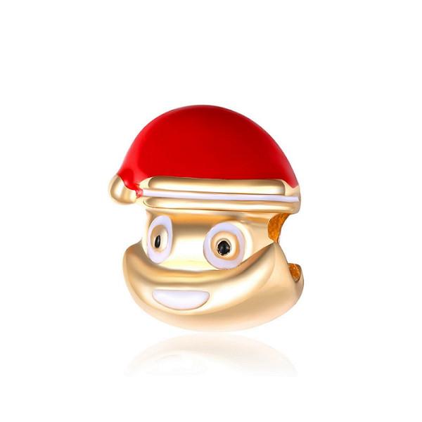 Big Hole Loose Beads charm For Pandora DIY Jewelry Bracelet For European Bracelet&Necklace Christmas Decorations Cute Beads