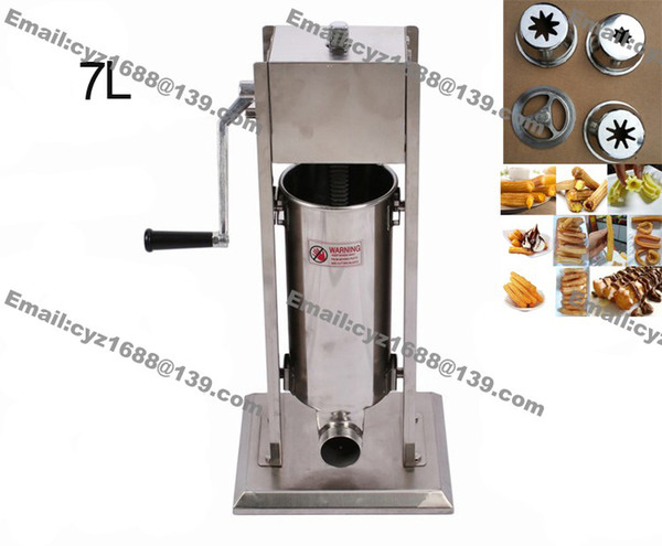 Stainle teel commercial 7l manual pani h doughnut donut machine churro churrera maker filler with 4pc nozzle