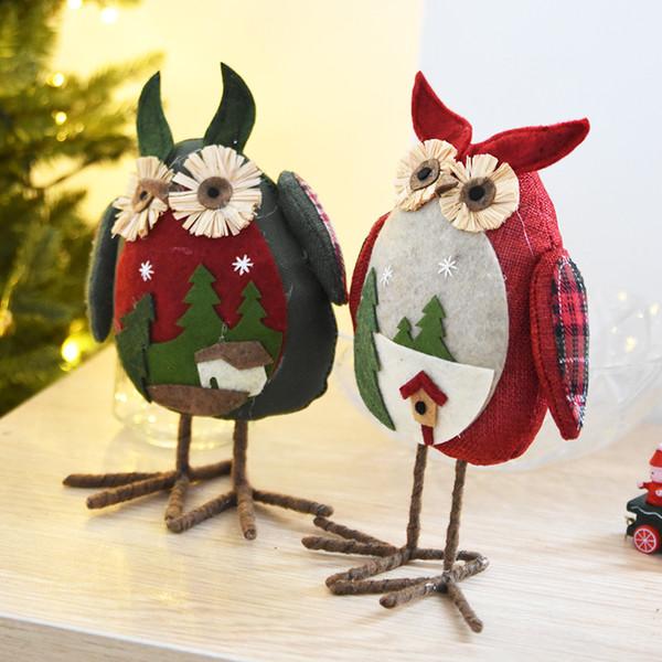 New Arrival Christmas Big Eye Owl Plush Xmas Ornament Home Party Decor Christmas Decorations For Home Kids Christmas Gift Doll