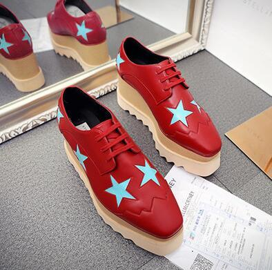 red with blue star