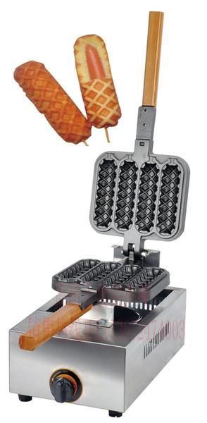 Free shipping Gas type 4 PCS Hot dog waffle maker hotdog stick