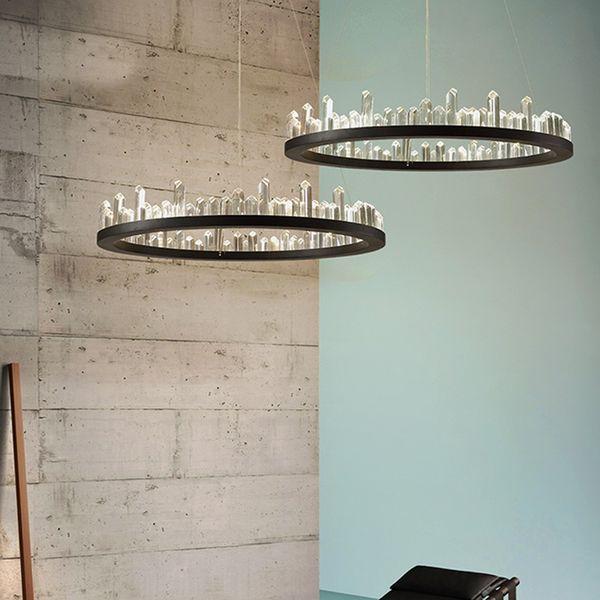 LED Light Modern Crystal Chandelier Americano Lampadari rotondi Luci Apparecchio Dining Living Room Parlor Home Indoor Lighting 3 anni di garanzia