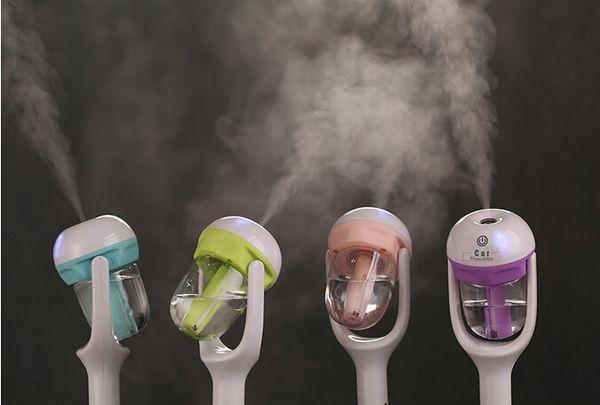 top popular nEW USB Car Plug Humidifier Fresh Refreshing Fragrance ehicular essential oil ultrasonic humidifier Aroma mist car Diffuser(WT102) 2021