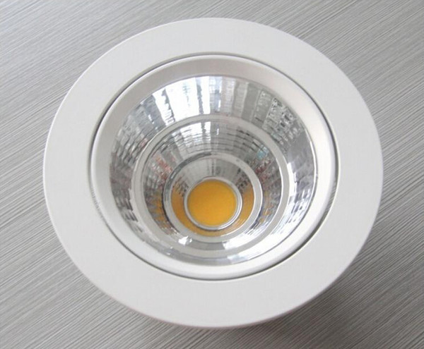 30pcs/lot Dimmable LED COB Ceiling Down Light Dowlight 10W 15W Warm /Pure/ Cool White Recessed LED Lamp With led driver