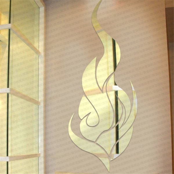 The Best Quality Diy Beautiful Gold Fire 3d Mirror Fire Wall ...