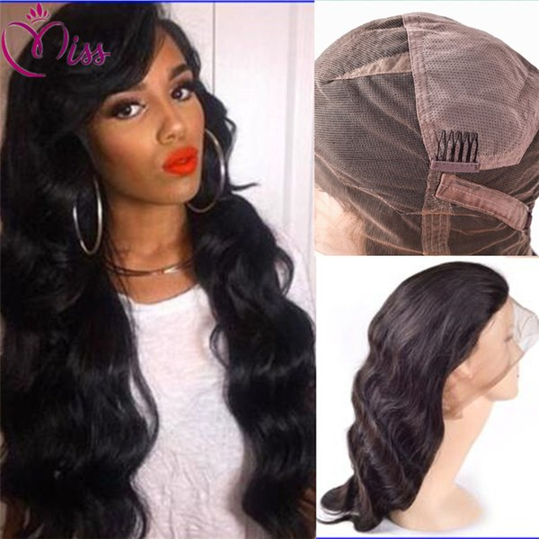 Cheap Indian Wigs Glueless Full Lace Indian Wig Body Wave Human Hair Full Lace Wigs With Baby Hair Lace Front Wigs Stock