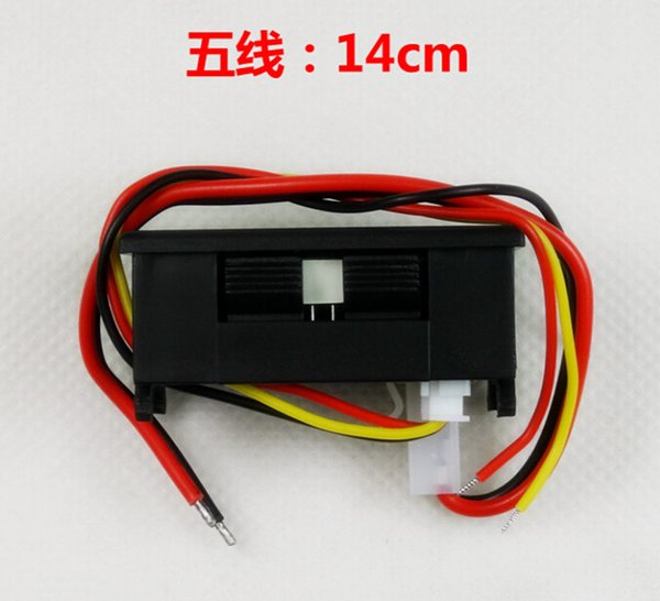 By DHL Fedex 100 PCS hot selling 2 in 1 red LED DC 200V 10A 0.28 inch Digital Amp Volt panel Meter Gauge Ammeter Voltmeter