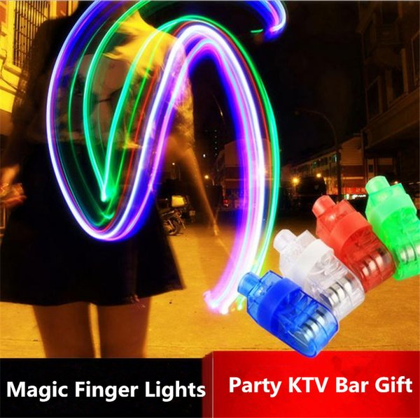 Wholesale - 60pcs lot Magic finger lights,finger Laser Lights,finger ring light,LED Christmas Lights,toy Lamp 2726