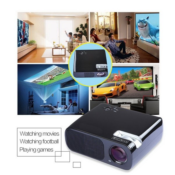 Vogue BL-20 LED Mini Portable Projector LCD 2600 Lumens Home Theater LCD Proyector Full HD 1080P HDMI USB AV VGA TV Beamer Multi-Media Video