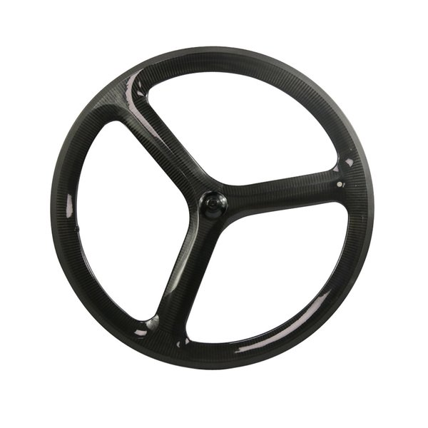 Hulkbike 3 spoke track bike wheelset carbon fiber bicycle wheels Fixed Gear bicycle parts clincher wheelset customized bicycle component