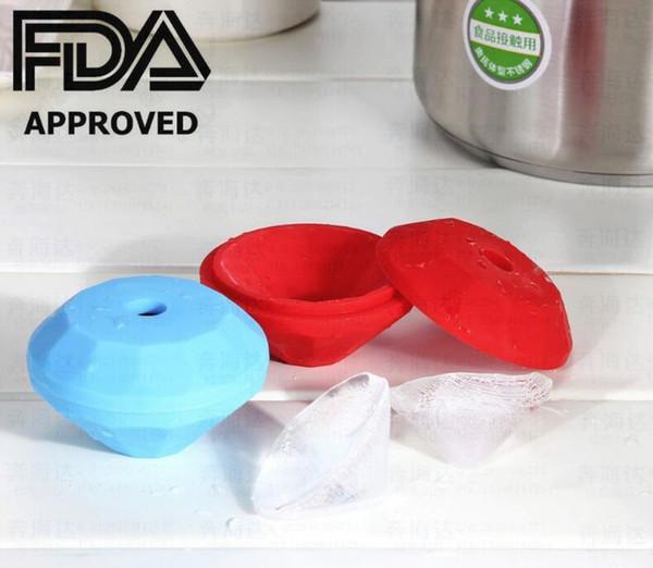 El caramelo grande del diamante del silicón de alta calidad de la marca de fábrica moldea la bandeja del cubo de hielo del diamante, aprobada por la FDA