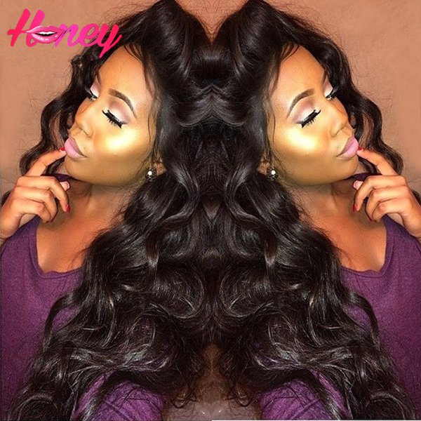 Body Wave Virgin Brazillian Human Hair wigs Lace Front Wig Glueless Full Lace Wig With Baby Hair Blenched Knots 130density free ship