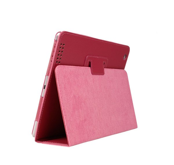 Per Apple ipad 2 3 4 Case Auto Sleep / Wake Up Flip Litchi PU Custodia in pelle per nuovo ipad 2 ipad 4 Smart Stand supporto Folio custodia