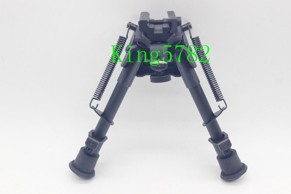 """best selling 6""""-9"""" Harris Style Tactical Bipod 5 Levels Adjustable Spring Loaded Legs Heavy Duty Bipod"""