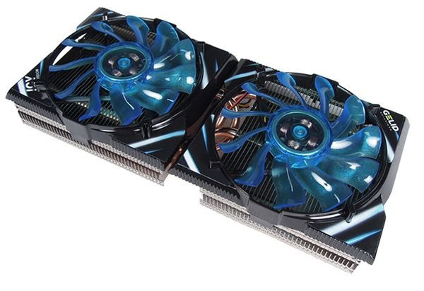 GELID two 9.2cm fan five 6mm copper heatpipes ASIC and graphic card cooler REV. 2 ICY VISION for R9 290 290X 390 7870 285 275