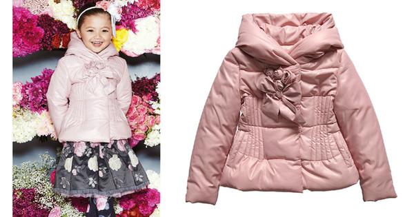 1-5Y winter jacket kids coat Monnalisa Fall Winter Outerwear girls abrigo invierno ninas Girls Pink Padded Jacket Warm Parkas free shipping