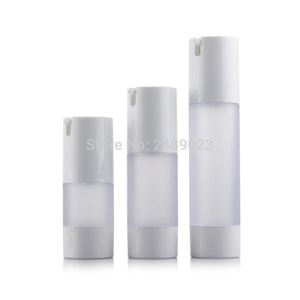 15 ml 30 ml 50 ml Botella sin aire Frosted Bomba de vacío Loción Botellas recargables utilizadas para el envase cosmético 10 unids / lote